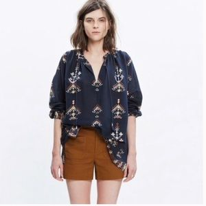 Madewell Folkstitch Popover Top